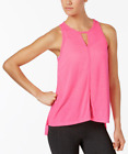 Calvin Klein Performance Epic Cutout Tank Top Wild Cherry Pink size Small