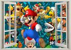 Super Mario Brothers 3d Effect Window Wall View Sticker Poster Vinyl Boys 234