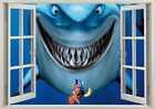 Disney Finding Dory Nemo Shark Fish 3D Window Wall View Sticker Poster Viny 103