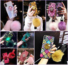 For iPhone XR XSMAX 67 8 Bling Diamond Stand Plush Ball Airbag Grip Case NOTE9 8 $7.99 USD on eBay