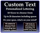 Custom Text Vinyl Decal Personalized Lettering Window Yeti Cup Sticker 10 Sizes