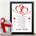 Couples Love Poem PERSONALISED Wedding Anniversary Engagement Gifts for Her Him