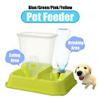 2 in 1 Automatic Pet Food Drink Dispenser Dog Cat Feeder Water Station Bowl Dish