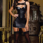 Hot Sexy Party Dress Leather Latex PVC Lingerie Black Latex Costume Catsuit M-XL