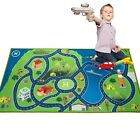Kids Area Rugs Car Play Crawling Activity Mat Road Floor Bedroom Island Carpets  <br/> Island Oasis Military Game,Non-Slip Backing,Educational
