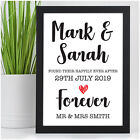 Wedding Day Gifts PERSONALISED for Bride Groom Mr & Mrs Happily Ever After Gifts