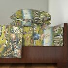 Fine Art Garden Medieval Painting 100% Cotton Sateen Sheet Set by Roostery image