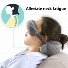 Travel Neck Pillow & Eye Mask Set Soft Health Pillow Sleep Head Cushion New