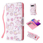 Cute Pattern Flip Magnetic Wallet Card Leather Stand Strap Case For Galaxy Phone