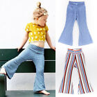 USA Kids Baby Girls Casual Wide Leg Pants Leggings Toddlers Bottoms Trousers