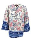 Style & Co. Women's Plus Size Scarf-Print Peasant Top