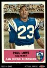 1962 Fleer #80 Paul Lowe Chargers EX $21.0 USD on eBay