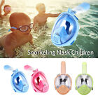 Kids Adults Full Face Diving Snorkel Mask Swimming Water Sports Anti-Fog/Leak