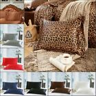 2 pcs Solid Queen/Standard Silk Satin Pillow Case Bedding Pillowcase Smooth Home image