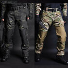 Mens Military Pants Army Combat Tactical Cargo Trousers Hiking Casual Camouflage