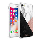 PERSONALISED NAME GLITTER MARBLE CASE FOR IPHONE X XR XS Max 8 7 6s Plus- 007