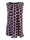Nine West Women's Printed Pleated-Front Shell Top