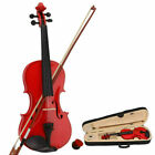 1-2-4-4 Full Size Solid Maple multi Color Acoustic Violin Set  Case for Beginner