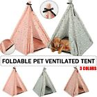 Foldable Pet Triangle Tent DIY Indoor Outdoor Dog Cat Cozy Cave Kennel House New