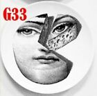 Vintage piero Fornasetti prints in plates Art Home/Wall Decorat plate Face SKULL