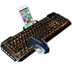 Wired Gaming Keyboard and Mouse Combo SADE 4 Adjustable DPI Colorful Lights NEW