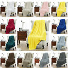 100% Cotton Cable Knit Knitted Throw Blanket Large Sofa Bed Couch Home Décor image