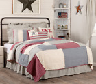 HATTERAS PATCH QUILT SET-choose size & accessories-Patchwork Americana VHC Brand image
