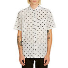 Volcom Crossed Up (White) Short Sleeve Button-Up