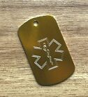 CUSTOM ENGRAVED MEDICAL ALERT ID INFO DOG TAG NECKLACE DIABETIC ALLERGIES ICE