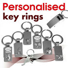Personalised Keyring engraved with text, name, logo *02* golf whistle football