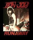 BON JOVI cd cvr FIRST ALBUM / RUNAWAY Official Black SHIRT new M, L, XL, 2X, 3X