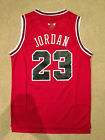 NEW Throwback Basketball Jersey MICHAEL JORDAN #23 Chicago Bulls YOUTH / KIDS