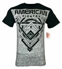 AMERICAN FIGHTER Mens T-Shirt FOWLER Athletic Premium Biker MMA Gym UFC $50 image