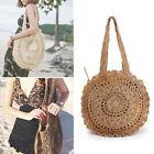 Women Shoulder Bag Rattan Straw Round Crossbody Tote Handbag Messenger Purse Bag