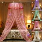 Elegant Lace Bed Canopy Netting Curtain Insect Fly Cot Baby Mosquito Dome Net US image