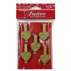 Icon Craft, Decorative Wooden Festive Pegs - 6 Designs, Pack of 6