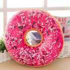 Soft Plush Pillow Stuffed Seat Pad Sweet Donut Foods Cushion Cover Case Toys L