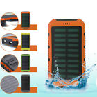 10000mAh Solar Power Bank Waterproof Dual USB Battery Charger For Cubicle Phone