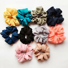 Pure Color Hair Scrunchies Elastic Hair Bands Bobble Sports Scrunchie Hairband