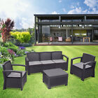 5pc Patio Rattan Wicker Sofa Set Cushined Couch Furniture Outdoor Garden