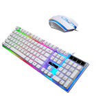 1 Set of USB Requisite Ergonomic Plastic Portative Keyboard and Mouse for Gaming
