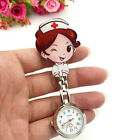 Cartoon Pocket Nurse Watch Fobwatch Clip-on Fob Tunic Medical Brooch Quartz