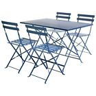Bistro Set Family Garden Furniture Set Folding Table And Chairs Steel 2 Colours