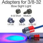 Adapter for 3/8-32 Thread to 8-32 1/4-28 3/8-24 7/16-20 E-Tac Bow Sight Light