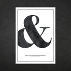 Ampersand Typography Designer Font Posters - Wall Art Decor Prints - A5 A4 A3