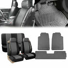 Built-in Seat Belt Auto Seat Covers w/ Gray Floor Mats SUV Van Sedan Truck on eBay