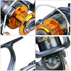 Folding Handle Reel Spinning Right/Left Metal Spooler Fishing Reel Tackle Gray #