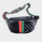 Striped Quilted Color Block Fanny Pack Bag Purse 2 Colors Available