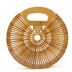 Womens Handmade Round Bamboo Bag Purse Beach Lady Handbag Rattan Tote Clutch Bag