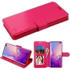 Samsung Galaxy S10 S10e S10 Plus Leather Flip Wallet Card Case Pouch Phone Cover